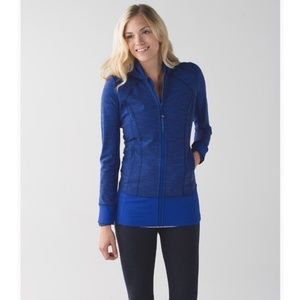 Lululemon Blue Daily Practice Jacket Zip Up